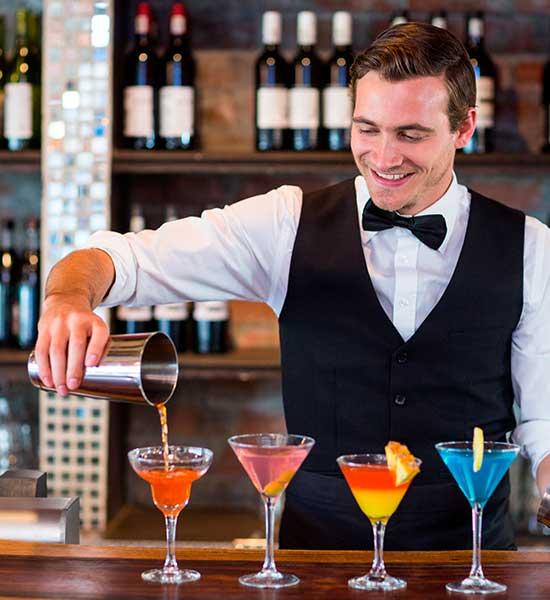 Alquilar un bar de cócteles - Bartender para cóctel
